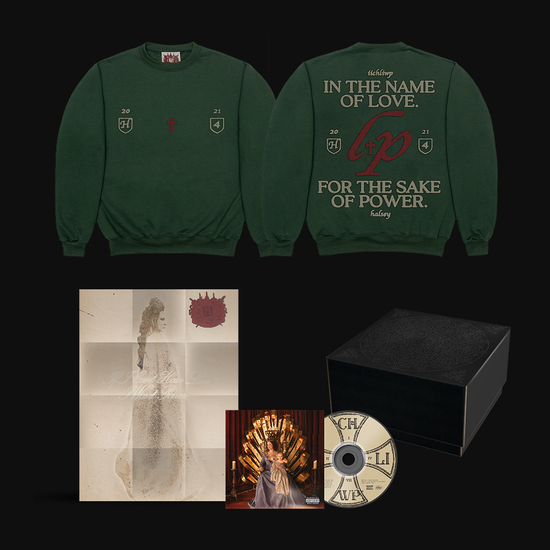Halsey: If I Can't Have Love, I Want Power- Love and Power Green Crewneck & CD Box
