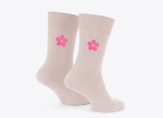 The Vamps: Cherry Blossom Embroidered Socks