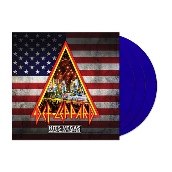 Def Leppard: HITS VEGAS Live At Planet Hollywood: Limited Edition Transparent Triple Blue Vinyl