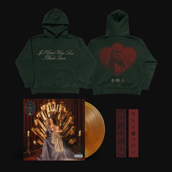 Halsey: Limited Edition Heart Crest HOODIE, BOOKMARK & LP