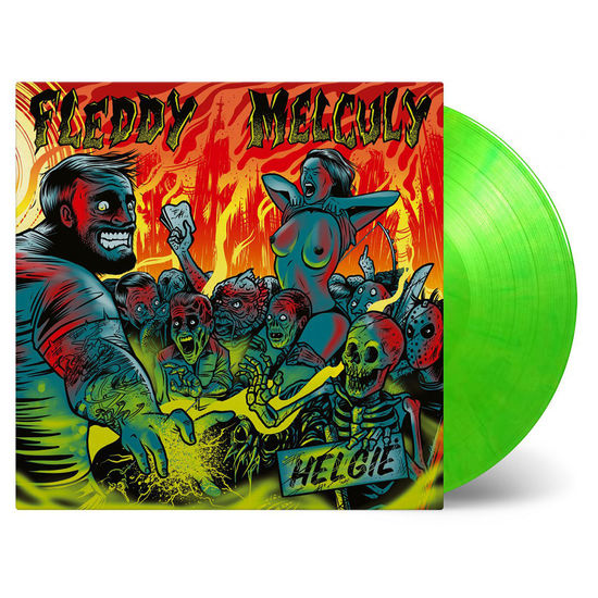 Fleddy Melculy: Helgie: Limited Edition Green & Yellow Mixed Vinyl