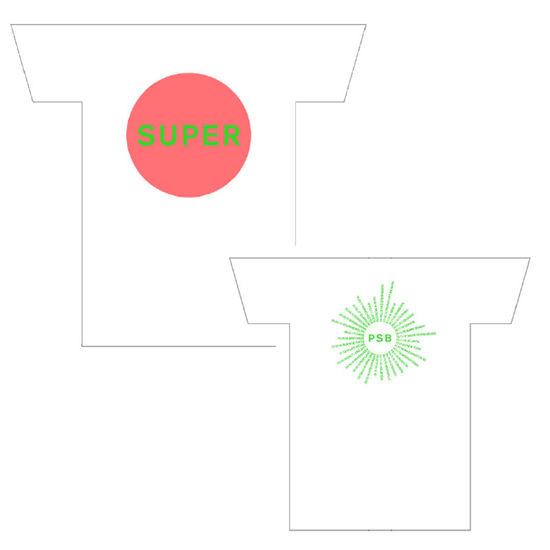 Pet Shop Boys: Super Tour Dates White T-Shirt