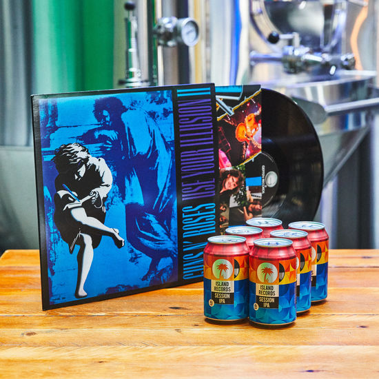 Guns N' Roses: Use Your Illusion Vol Two Vinyl + Island Records Session IPA 6 pack