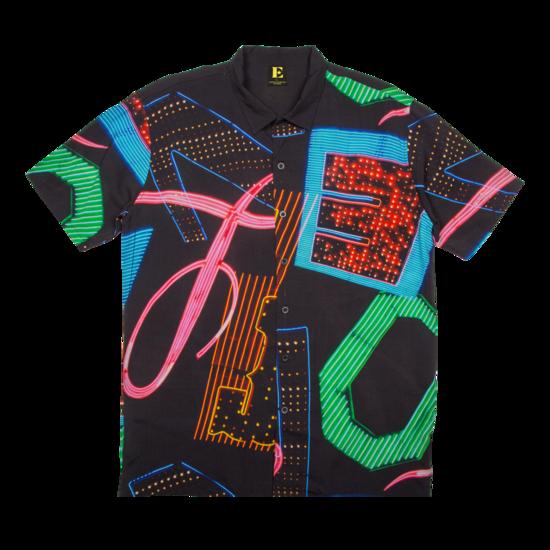 Elton John: Neon Print Hawaiian Shirt