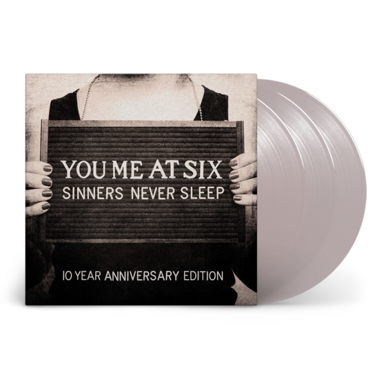 You Me At Six: Sinners Never Sleep - 10th Anniversary: Exclusive Silver Vinyl 3LP + Signed Art Print
