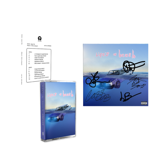 Easy Life: lifes a beach : test pressing cassette, standard cassette & signed art card