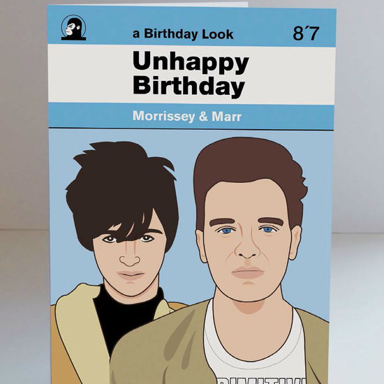 The Smiths: Morrissey & Marr Birthday Card