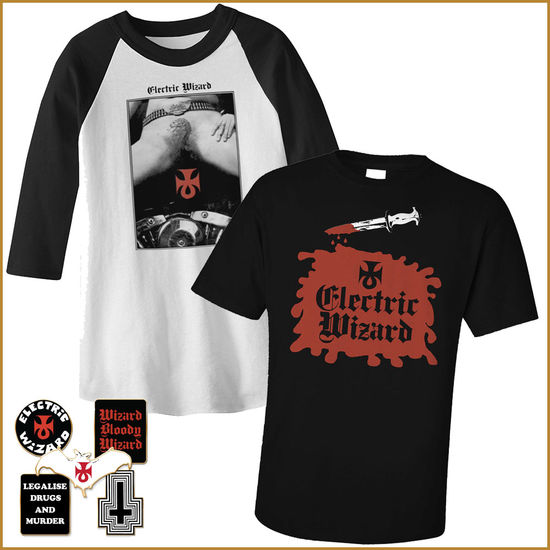 Electric Wizard: Baseball Shirt, Tee, Badge Bundle