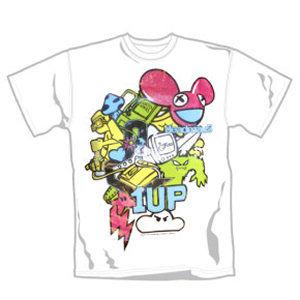 Deadmau5: Deadmau5 1 UP Design on White T-Shirt