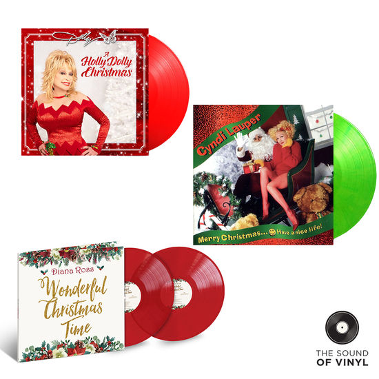 Dolly Parton: The Sound Of... Christmas: Deluxe Colour Vinyl Exclusive Bundle