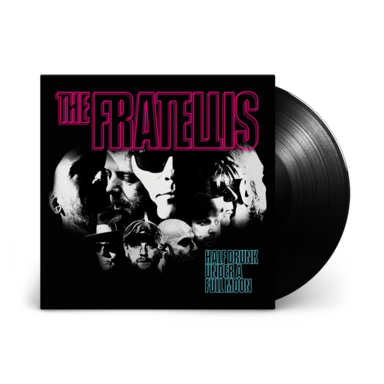 The Fratellis: Half Drunk Under a Full Moon: Black Vinyl LP + Signed 12x12