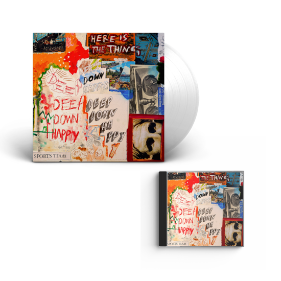 Sports Team: Deep Down Happy: Clear Vinyl + CD