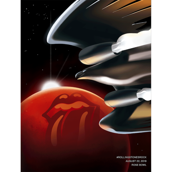 The Rolling Stones: Rolling Stones Rock Mars Lithograph