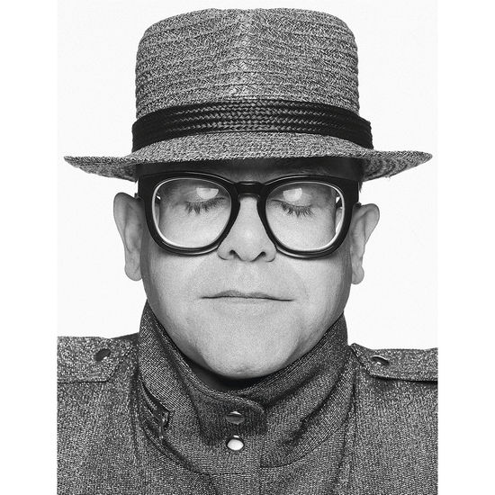 Elton John: Elton B&W Portrait - Terry O'Neill Fine Art Print 16