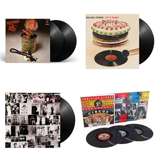 The Rolling Stones: The Sound Of The Rolling Stones: Rock 'n' Roll Circus, Exile On Main Street, Let It Bleed, Sticky Fingers Limited Edition Vinyl Bundle