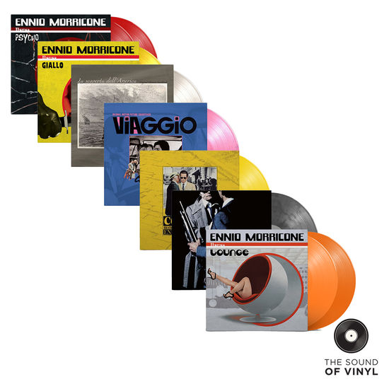 Ennio Morricone: The Sound Of... Ennio Morricone: Deluxe Colour Vinyl Soundtracks Exclusive Bundle