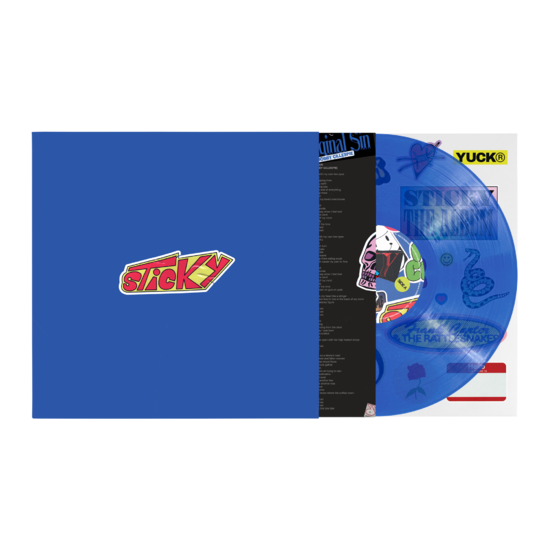 Frank Carter & The Rattlesnakes: Sticky: Transparent Blue Vinyl LP + Signed Print