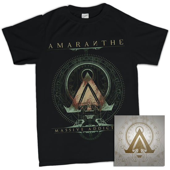 Amaranthe: Massive Addictive Black Tee & CD Bundle