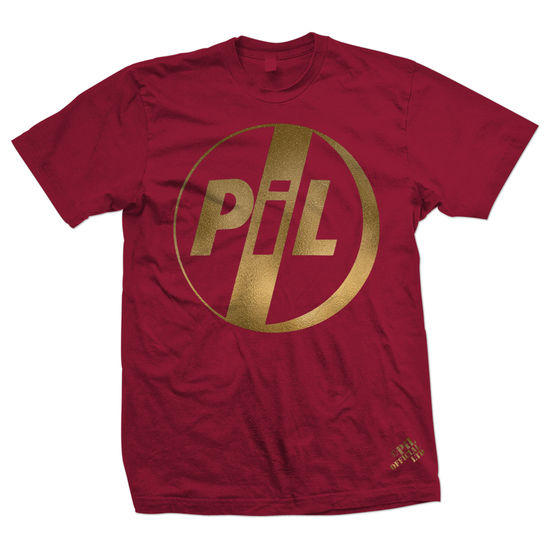 Public Image Limited: PiL Gold Foil Logo Red T-Shirt