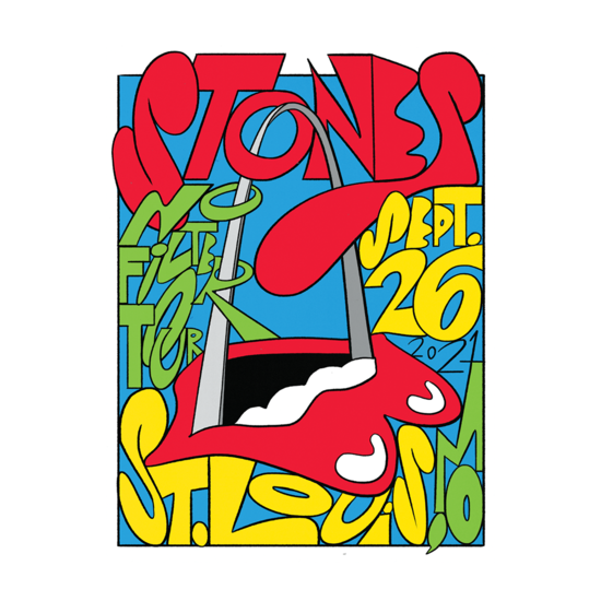 The Rolling Stones: St. Louis No Filter Tour 2021 Lithograph