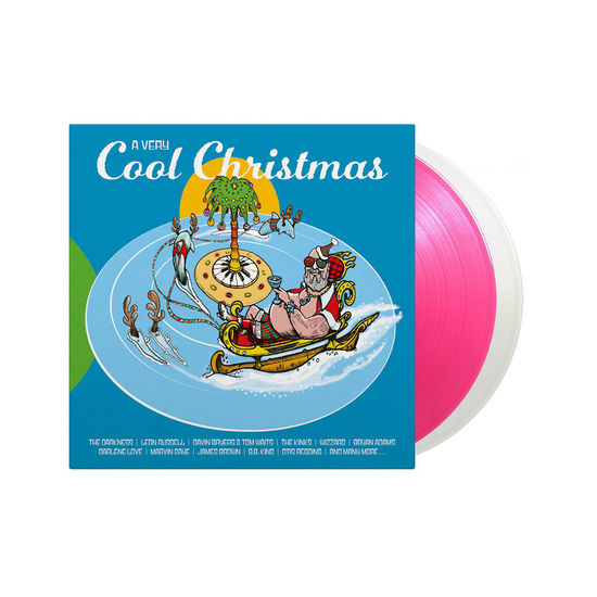 Various Artists: A Very Cool Christmas: Limited Edition Transparent Magenta and Crystal Clear Vinyl 2LP