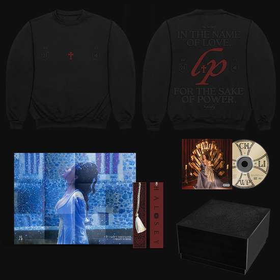 Halsey: If I Can't Have Love, I Want Power - Love and Power Crewneck Sweater & CD Box Set