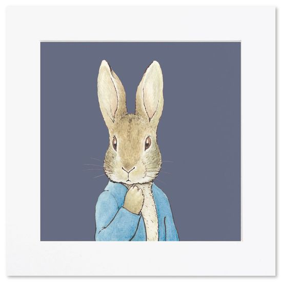 Peter Rabbit: Peter Rabbit Navy - Mini Print (Unframed)