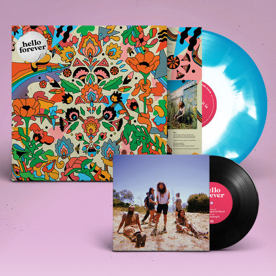 Hello Forever: Whatever It Is: Limited Edition Pacific Blue + White Ink Spot Vinyl + 7