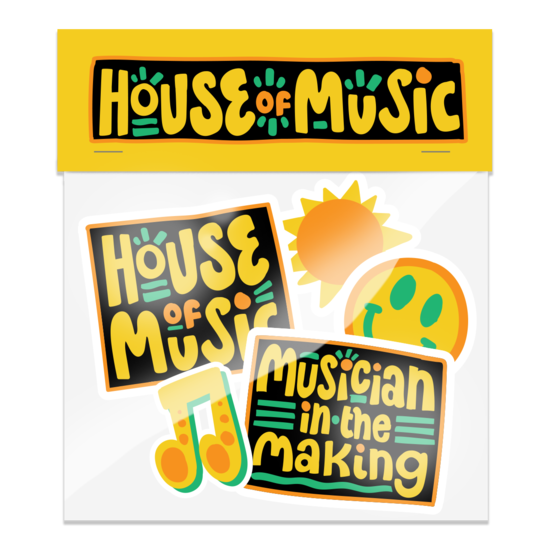 House of Music: Sticker Pack