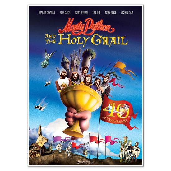 Monty Python: Monty Python and the Holy Grail 40th Anniversary Lithograph