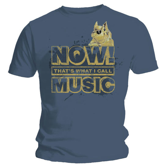 Now Music: Vintage NOW That's What I Call Music Gold Logo On Blue T-Shirt