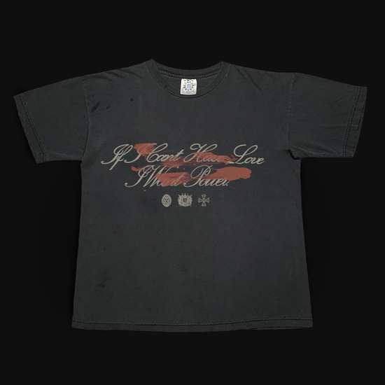 Halsey: IF I CAN'T HAVE LOVE, I WANT POWER - DAGGER BLACK T-SHIRT