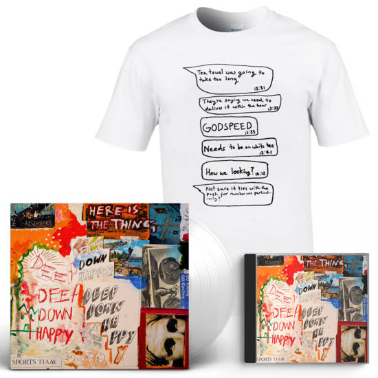 Sports Team: Deep Down Happy: Clear Vinyl, CD + Chart Battle Tee