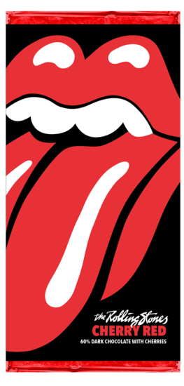 The Rolling Stones: Cherry Red Chocolate Bar
