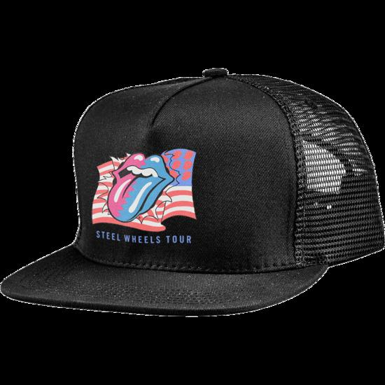 The Rolling Stones: RS Steel Wheels Zigzag Flag Trucker Cap