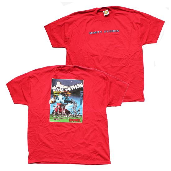 Monty Python: Live At The Hollywood Bowl Red T-Shirt - Large