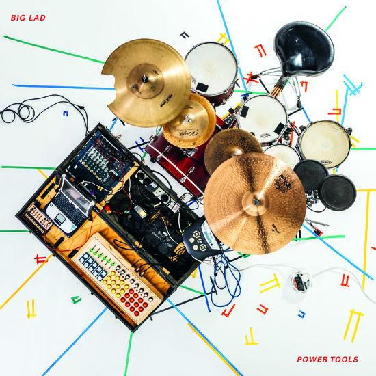 Big Lad : Power Tools: White Vinyl with Blue Splatter