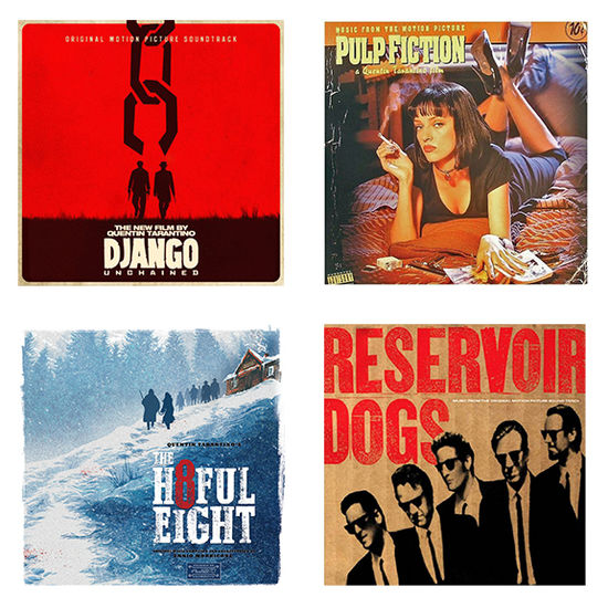 Original Soundtrack: Tarantino Soundtracks - Pulp Fiction, Django Unchained, The Hateful Eight, Reservoir Dogs: Limited Edition Bundle