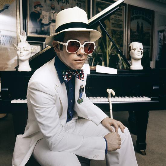 Elton John: Greatest Hits Cover Shoot 1974 - Terry O'Neill Fine Art Print 16