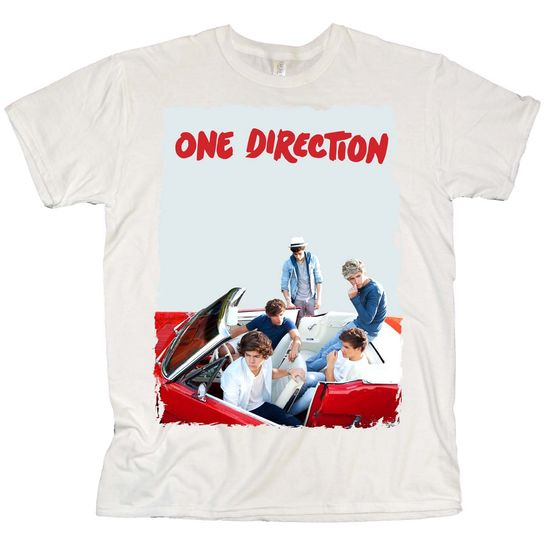 One Direction: One Direction Car Gaze White T-Shirt