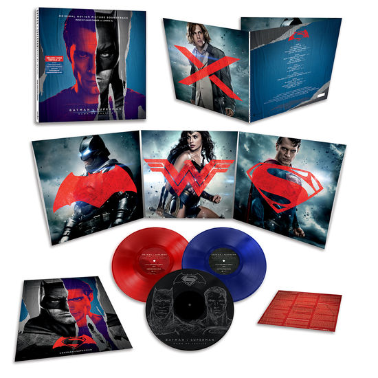Hans Zimmer and Junkie XL: Batman v Superman: Dawn Of Justice Coloured Vinyl