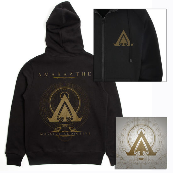 Amaranthe: Massive Addictive Black Hoodie & CD Bundle