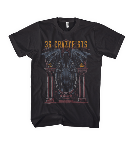 36 Crazyfists: Statue Black T-Shirt