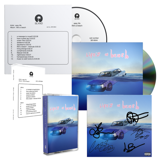 Easy Life: life's a beach: Signed Artcard, Standard CD, Test Pressing CD, Standard Cassette & Test Pressing Cassette