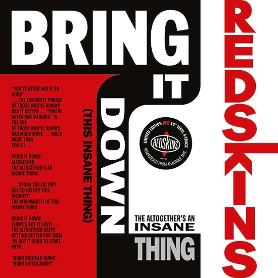 The Redskins: Bring It Down! Limited Edition Red Vinyl (This Insane Thing) [RSD 2019]