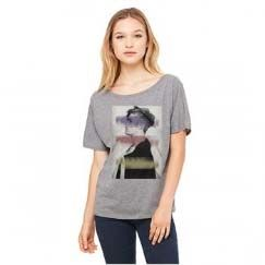 Justin Bieber: Justin Bieber Striped Photo Dolman Junior T-Shirt
