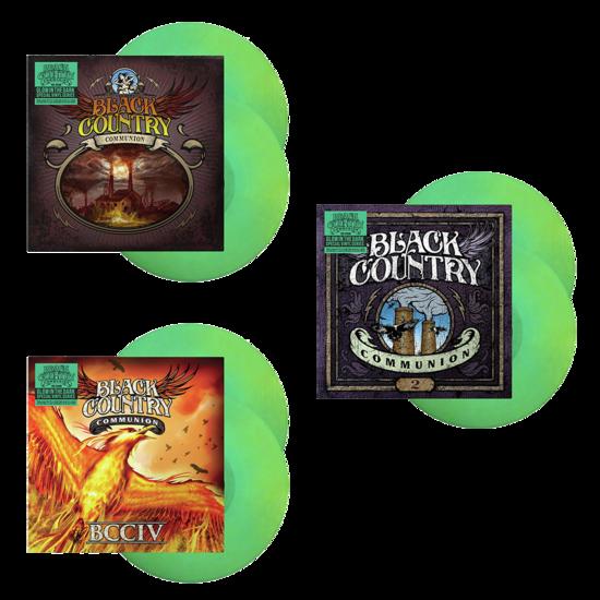 Black Country Communion: Black Country Communion, 2 & BCCIV: Limited Edition Triple Glow In The Dark Vinyl Bundle