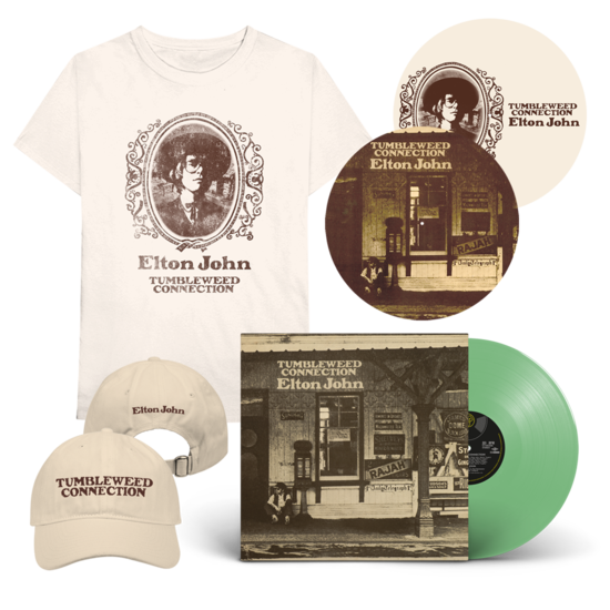 Elton John: Tumbleweed Connection: Exclusive Green Vinyl + T-Shirt + Cap + Reversible Slipmat