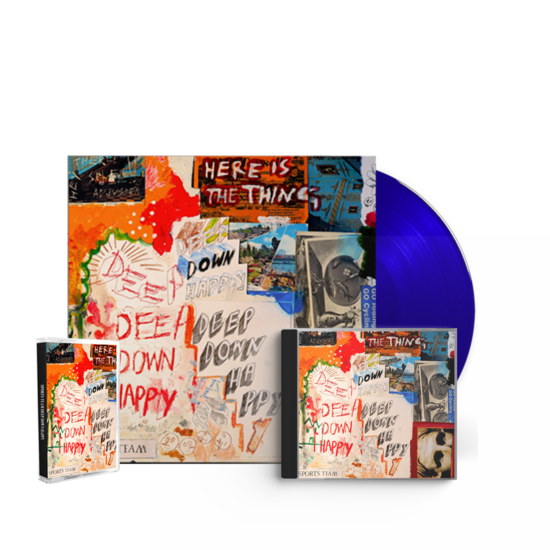 Sports Team: Deep Down Happy: Signed Blue Vinyl, Signed CD + Cassette