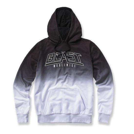 Beast Worldwide: Dip Dye Hood (Black/White)